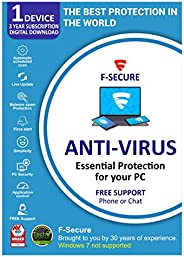 F-Secure Antivirus 1 PC 3 Years (Email Delivery in 2 Hours - No CD)