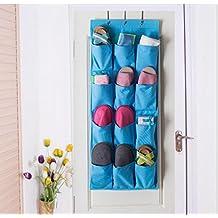 GYMNLJY Deposito borsa 12 griglia porta scarpa deposito borse Oxford tessuto può essere lavato casalinghi articoli biancheria intima appeso bag (confezione da 2) , blue