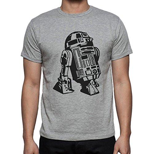Star Wars Bettle fron Order R2D2 Herren T-Shirt Grau