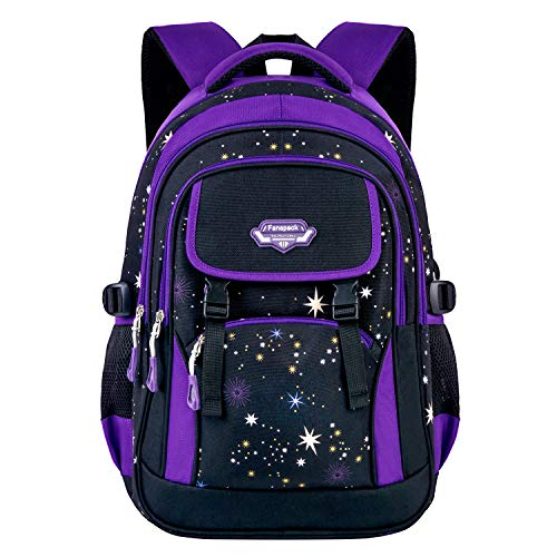8981e2532d87 School Bag,Fanspack Girls School Bags for Girls Backpack Purple Backpack  for Girls Multi-Compartment Secondary School Bag Casual Daypack Travel ...