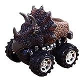 Prevently Dinosaurier Modell Spielzeugauto Lernspielzeug Kindertag Geschenk Spielzeug Mini Spielzeugauto Zurück des Auto für Kinder Geschenks (Colour B)