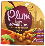 Plum Baby Organic Stage 3 Chickpea and Chicken Tagine 195 g (Pack of 5)