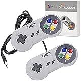 iNNEXT® 2x USB para Super SNES Mando de juegos para PC Windows Mac Raspberry Pi NES/SNES Emulator