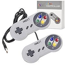 iNNEXT® 2x USB SNES Gamepad/Controller für PC Windows 10 Mac Raspberry Pi C64 Mini retropie gamepad NES/SNES Emulator