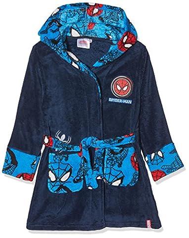 DC Comics Spiderman Mask, Robe de Chambre Garçon, Bleu, 7-8 Ans
