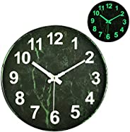 OURISE Modern Night Light Function Wall Clocks,12 Inches Silent & Non-Ticking Large Numbers Round Clocks f