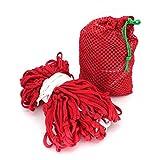Hängematte LXJT Schlafsaal Hängesessel Nylon Seil Indoor Mesh Baumwolle Seil Outdoor Net Bag Strand Camping Schaukel Erwachsenen Stil (Farbe : C)