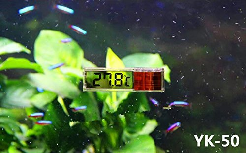 RICISUNG 1pcs Digital LCD Fish Aquarium Marine Vivarium Thermometer -50¡ãC to 70 ¡ãC 3