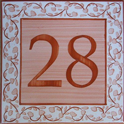 Azul'Decor35 Straßenschild von Hand bemalt Fayencen - Wählen Sie Ihre Nummer!