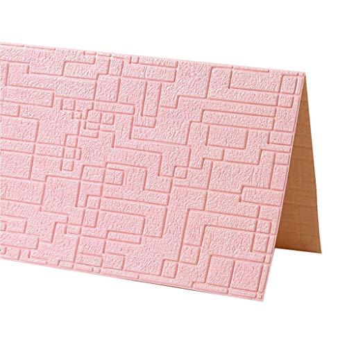 Stereotapete Des Ineinander Greifen-3D, Selbstklebende Tapete, Zum Des Geräusches Zu Verringern, Ungiftige, Geruchlose Wohnzimmer-Wand Fernsehhintergrund-Dekoration ( Color : C , Size : 15pcs )