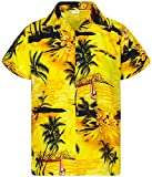Funky Camicia Hawaiana, Surf New, Giallo, L