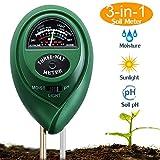 Suplong Soil PH Testing Kit 3 in 1Soil Moisture Meter Plant Soil Tester