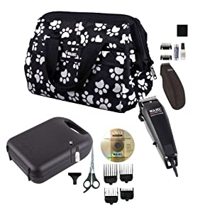 Wahl Pet Grooming Kit with Multi-Cut & Pocket Pro Trimmer Heads, Präzisionsschneidsatz, combs, case and A professional clipping blade