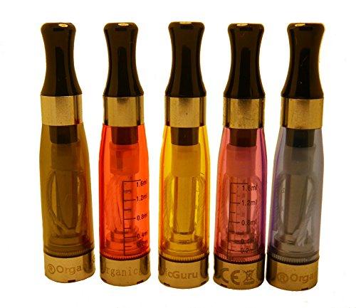 OrganicGuru® 5 x CE4 Clear Atomizer/ klarer Verdampfer 1,6ml E Zigarette