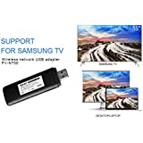 Velidy USB TV Wireless Wi Fi Adapter ,802.11ac 2.4GHz And 5GHz Dual Band Wireless Network USB Wifi Adapter For Samsung Smart TV WIS12ABGNX WIS09ABGN 300M
