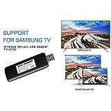 Velidy TV USB Wlan Adapter, Wi-Fi LAN Adapter 2.4GHz/5GHz 802.11a/b/g/n Dual Band 300Mbit/s Wireless USB Adapter für Windows 10/8.1/8/7/XP/Vista/MAC OS und samsung tv