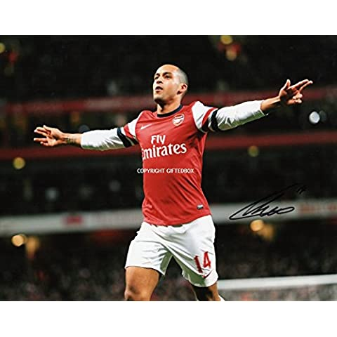 LIMITED EDITION THEO WALCOTT SIGNED PHOTO-CERT ARSENAL GUNNERS FOOTBALL STAMPA AUTOGRAFATA FIRMA FIRMATA SIGNIERT AUTOGRAM