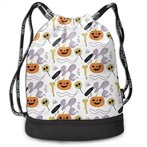 CHSUNHEY Turnbeutel,Sporttaschen,Halloween Outdoor Bundle Backpack Eco-Friendly Luggage Drawstring Backpack Bags Gym Eco-Friendly Luggage Drawstring Backpack Shoulder Bags