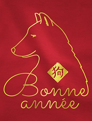 Green Turtle T-Shirts Nouvel an chinois - lunaire - Année du chien swagg T-shirt Manches longues Femme Rouge