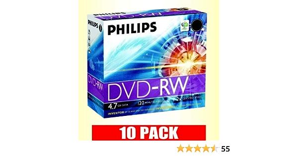 Philips 10 X Dvd Rw 4 7 Gb 2x 120 Minütige Computer Zubehör