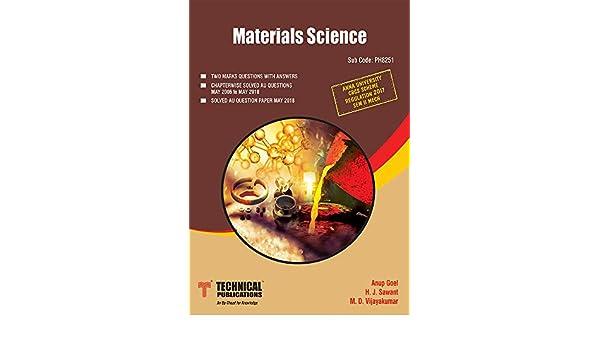 Material Science ( MECH ) eBook: ANUP GOEL, Prof  H J  Sawant, M D