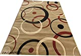 #3: Zia Carpets Beautiful Classical Design Silk Touch Floor Carpet With (1.00