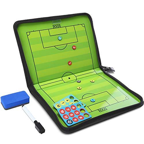 GHB Coaches Taktiktafel Taktiktafel Fussball Coach-Board mit Stifte, Radiergummi, Magneten (Verpackung MEHRWEG)