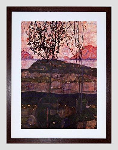EGON SCHIELE UNDERGROUND SUN OLD MASTER BLACK FRAMED ART PRINT PICTURE B12X2810