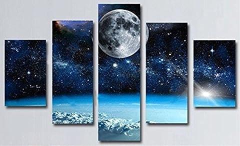 Obella Impression sur toile Peinture murale 5pièces Paysage cosmique, univers,