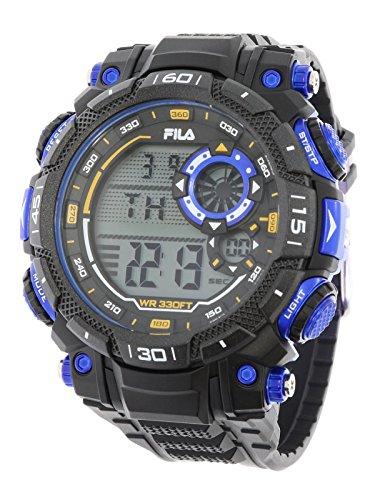 Fila sportliche Herrenuhr Digital 10 BAR Licht Alarm 38-826-001
