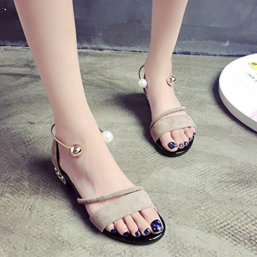 XY&GKDonna Sandali studentesse in Roma sandali estivi scarpe piatte All-Match tacco piatto scarpe, 40, cachi,con il migliore servizio 39Khaki