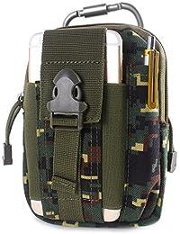 Unigear Bolsa Cintura Táctica Bolso Cinturón Compacta 1000D Nylon +  Mosquetón Pouch Molle Militar EDC Riñonera ae6df4ba151a