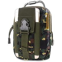 0bdfd0b435 Unigear Borsa da Cintura Borsello 1000D Nylo Marsupio Tattica Militare +  Moschettone Molle Pouch edc Tattico