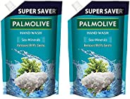 Palmolive Naturals Sea Minerals Liquid Hand Wash, 750ml Refill Pack, Remove 99.9% of Germs, Refreshing Fragran