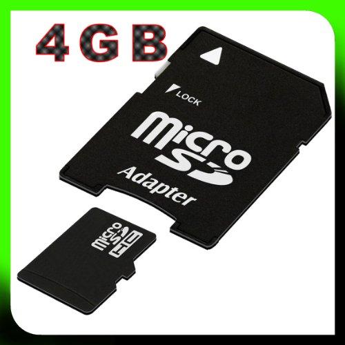 tomaxx 4GB / 4 GB micro SDHC Speicherkarte *OVP* Memorycard / Memory Flash Universal für LG C550 Optimus Chat, P350 Optimus Me, P970 Optimus , C320 Town, C300 Town inkl. SD Card Adapter
