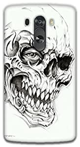 The Racoon Lean Skulls hard plastic printed back case / cover for LG G3