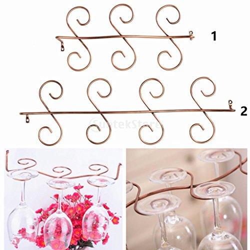 Edelstahl Glashalter Gläserregal für Haus Bar - Klar, 30x14.5x6.5cm