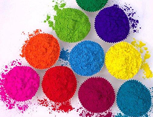 farbpulver 10 x Holi Pulver - Gulal - Festival Farbbeutel - Fotoshooting - 10 Farben