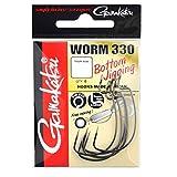 Gamakatsu Worm 330 Bottom Jigging - Offset Haken für Gummiköder, Offsethaken für Gummifische, Wide Gap Angelhaken für Jigs, Größe/Packungsinhalt:Gr. 1-6 Stück