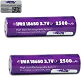 Genuine Efest 2500mAh IMR 18650 BATTERY - 35AMP BATTERY - FLAT TOP (2 Pack)