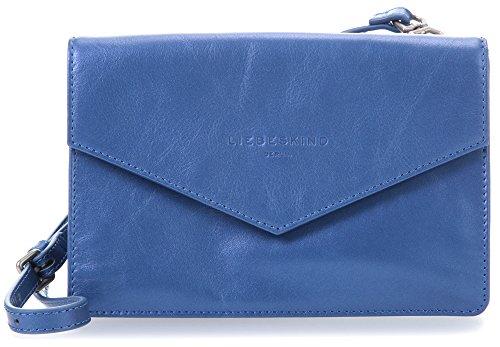 Liebeskind Metallic Suede Pepita Schultertasche blue_metallic blue x (Metallic Suede Handtasche)