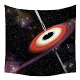 Xmiral Tapisserie Universum Mond Sterne Raum Yogamatte Picknickdecke Wandteppich 130 x 150 cm(J)