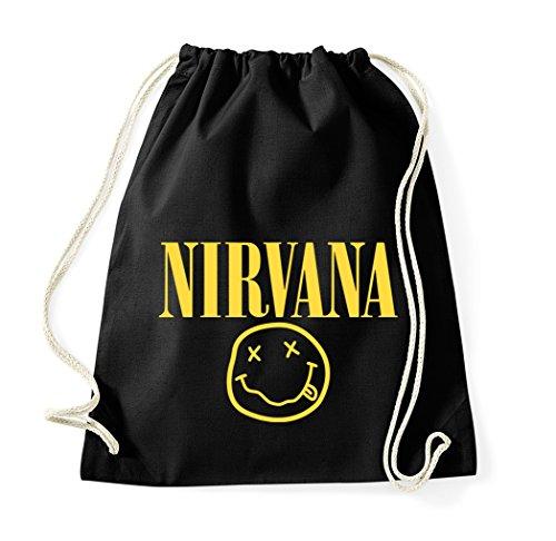 TRVPPY Turn Bolsa Modelo NIRVANA/bolsa mochila bolsa de deporte bolsa de tela Fashion Hipster, color negro, tamaño...