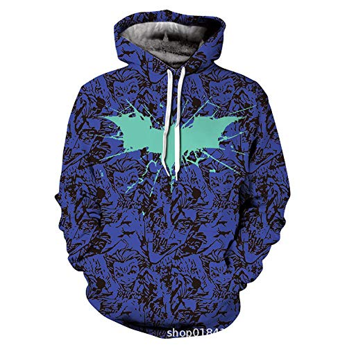 Herren Sportswear Batman 3D Gedruckt Hoodie Cosplay Kostüm Fashion Sweater Baseball Uniform A-XL
