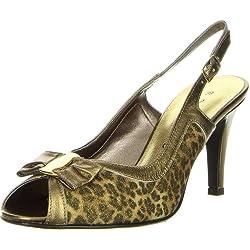 Vista Damen Sling Pumps leopard, Größe:39;Farbe:Bronze