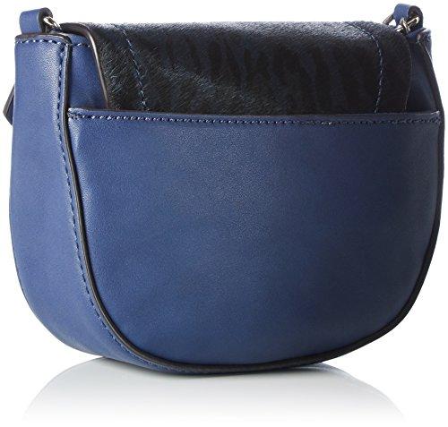 Guess Kingsley Petite Crossbody Flap, Sacs bandoulière Bleu (Sapphire)