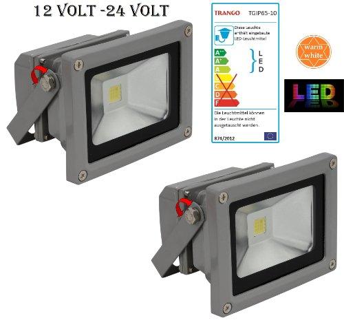Trango 2er Pack LED Strahler 12V - 24 Volt 3000K warm-weiß TGIP65-103DC2 Arbeitslicht I Ladeflächenbeleuchtung I Ladeflächenstrahler I Arbeitsleuchte I Fluter