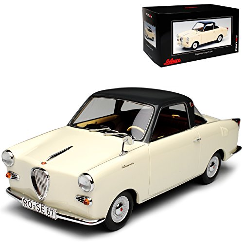 Schuco Goggomobil Glas Goggo Coupe Beige Cream TS 250 1955-1969 limitiert auf 500 Stück Pro.R18 1/18 Modell Auto mit individiuellem Wunschkennzeichen Glas-coupe