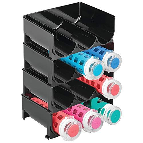 mDesign Flaschenregal – stapelbare Aufbewahrung für Wasserflaschen bzw. Trinkflaschen – ideal...