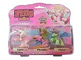 3 Filly Stars Pferdchen mit Swarovskistein / Pferd / Einhorn / Spielzeug / Spielfiguren Lyra, Phoenix & Pisca